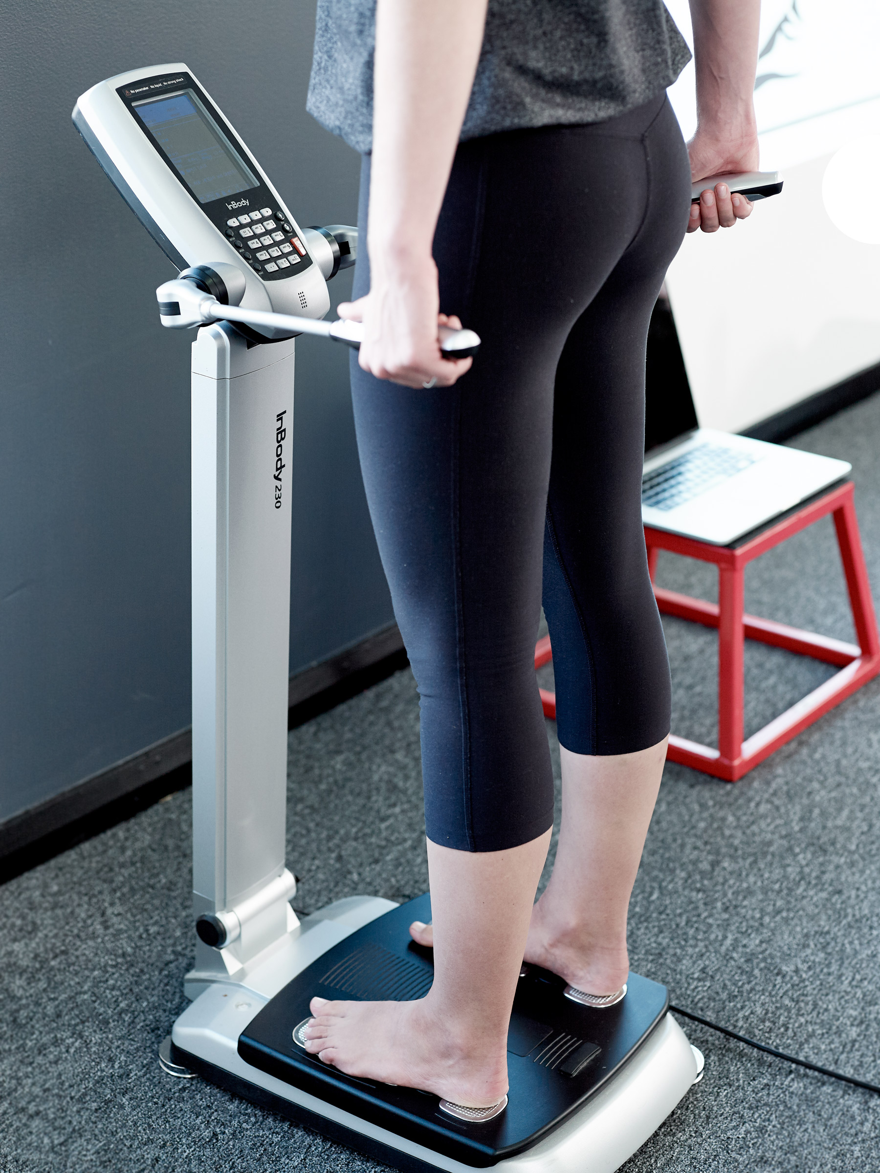 The Body Composition Analyser in action