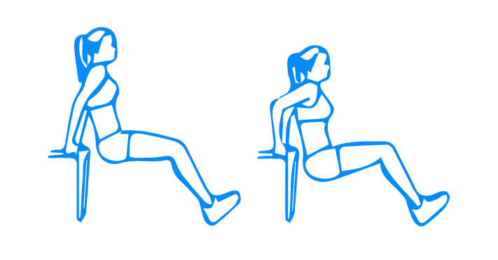 Chair/Bench Dips with legs