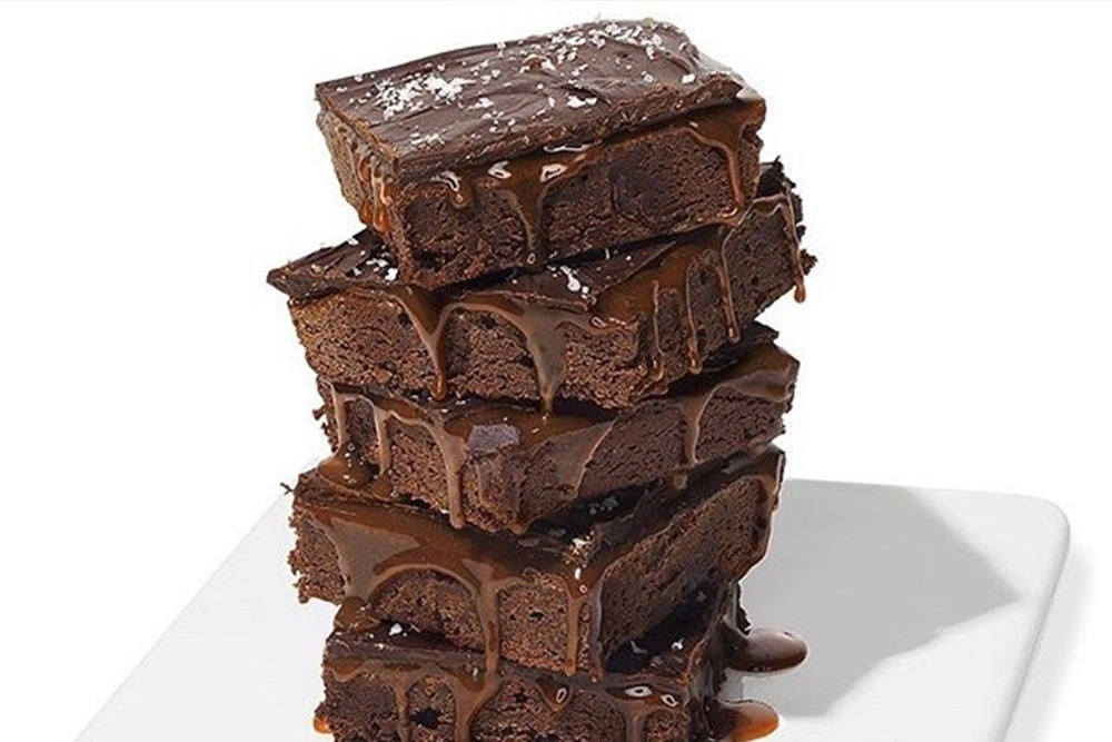 Must Try Brownies - These ooey, gooey, rich and chewy Salted Caramel Brownies were featured in O, The Oprah Magazine.