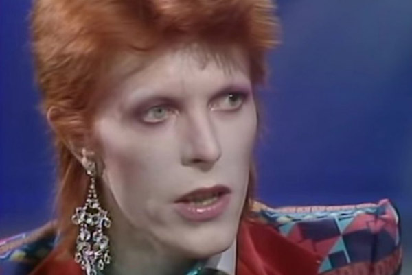 """Click here to watch Bowie perform """"Drive in Saturday""""on the Russel Harty Show early '73"""