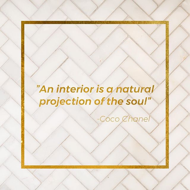 What does your interior project?