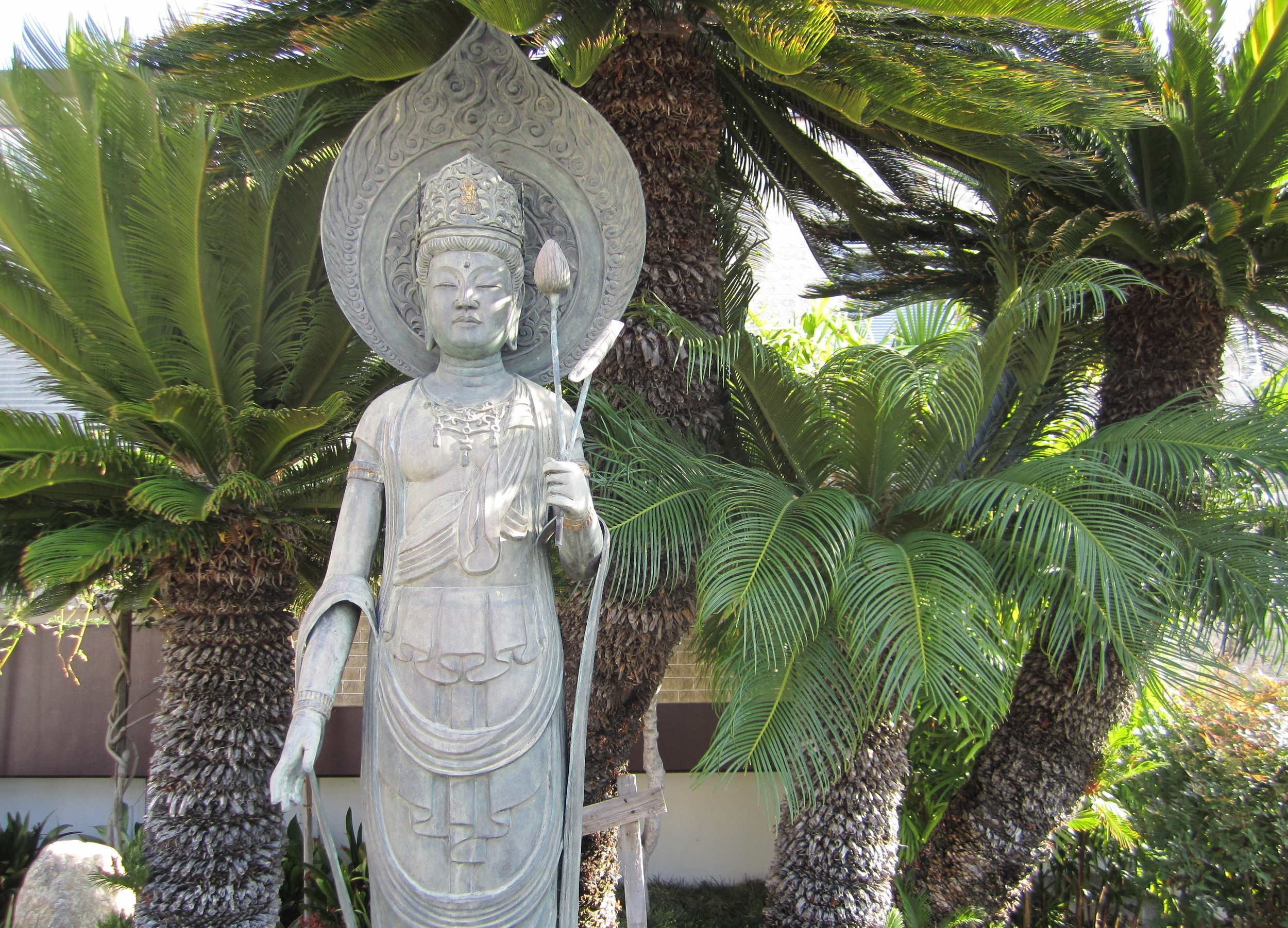 "Avalokitesvara, or  Kannon  in Japan, is the bodhisattva of compassion ""the one who hears the cries of the world"" this statue was a gift to the garden at Zenshuji Soto Mission in Los Angeles California, the oldest Soto Zen temple on the North American mainland..."
