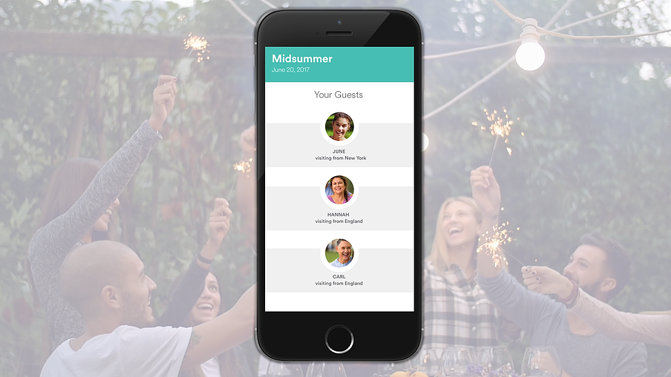 The app will notify you as people join your holiday.