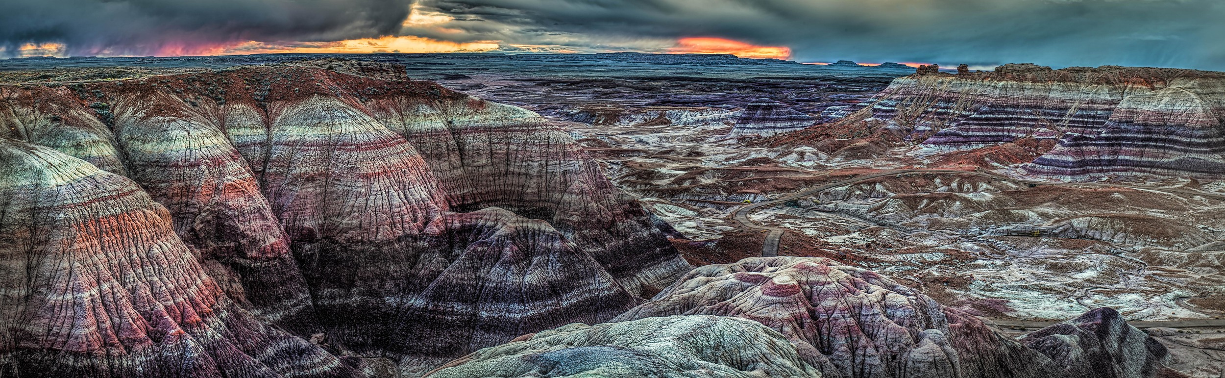 Blue Basin Sunset- Petrified Forest National Park, photo by Andrew Kerns CC / BY