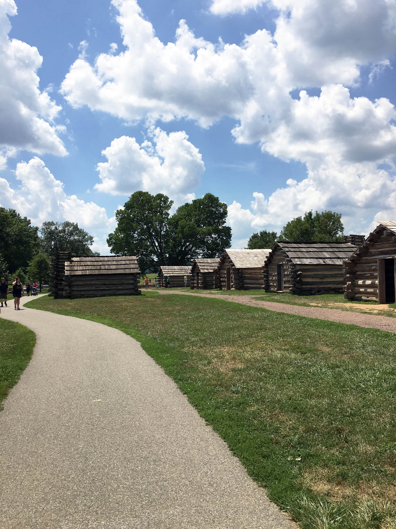 Replicas of encampment barracks in Artillery Park.