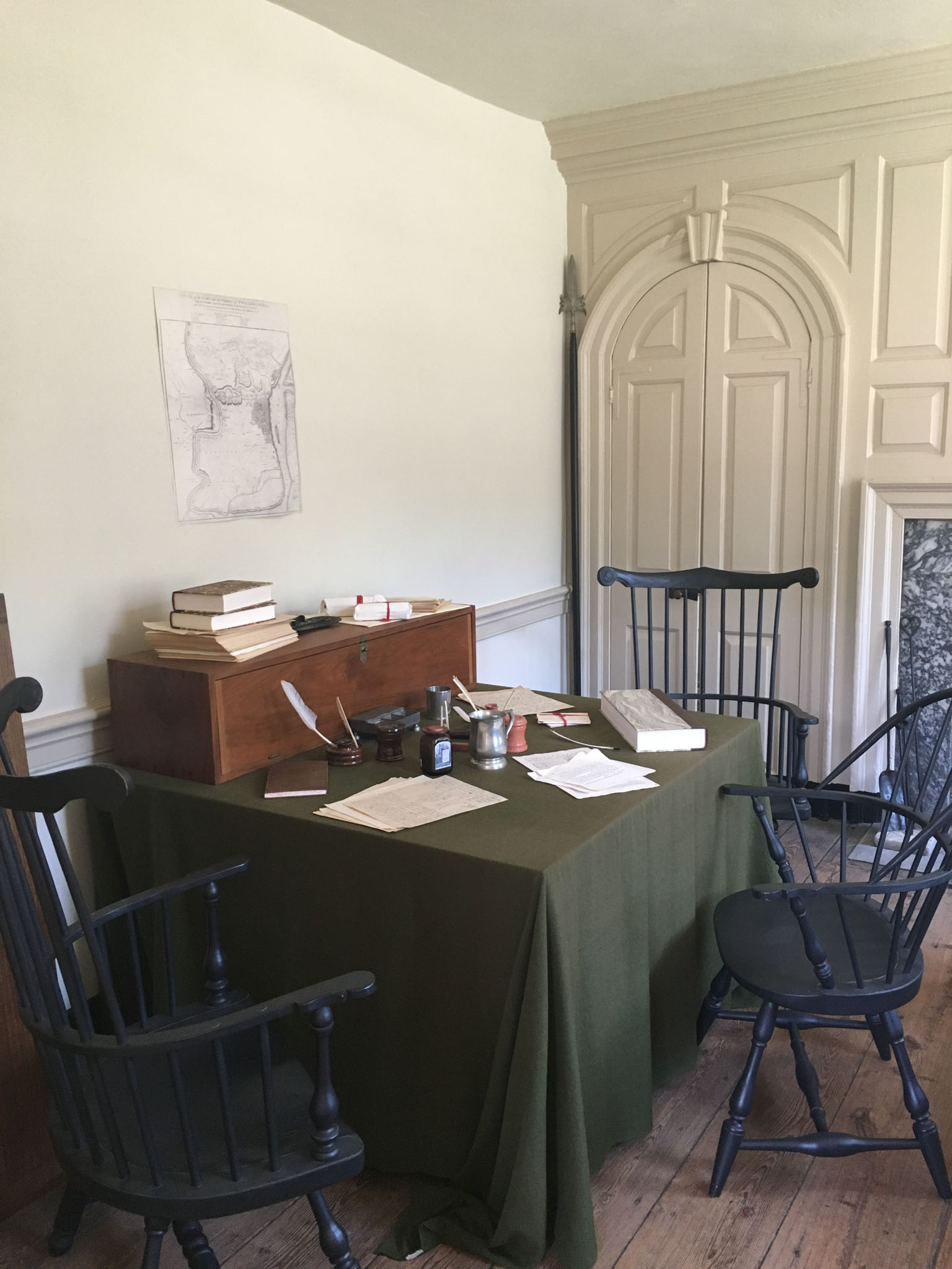 Alexander Hamilton's desk at Washington's Headquarters.