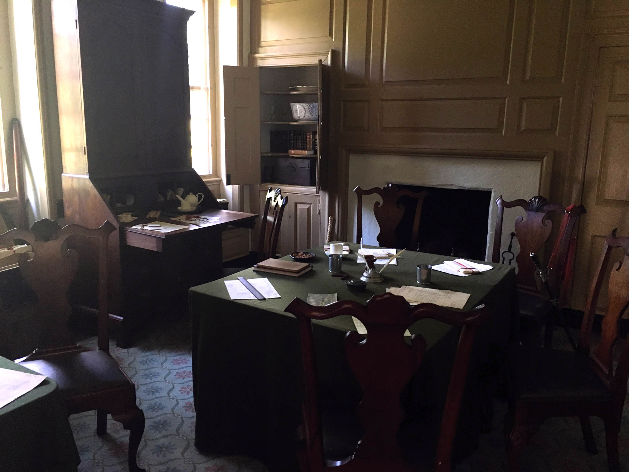 Washington's office at his headquarters.