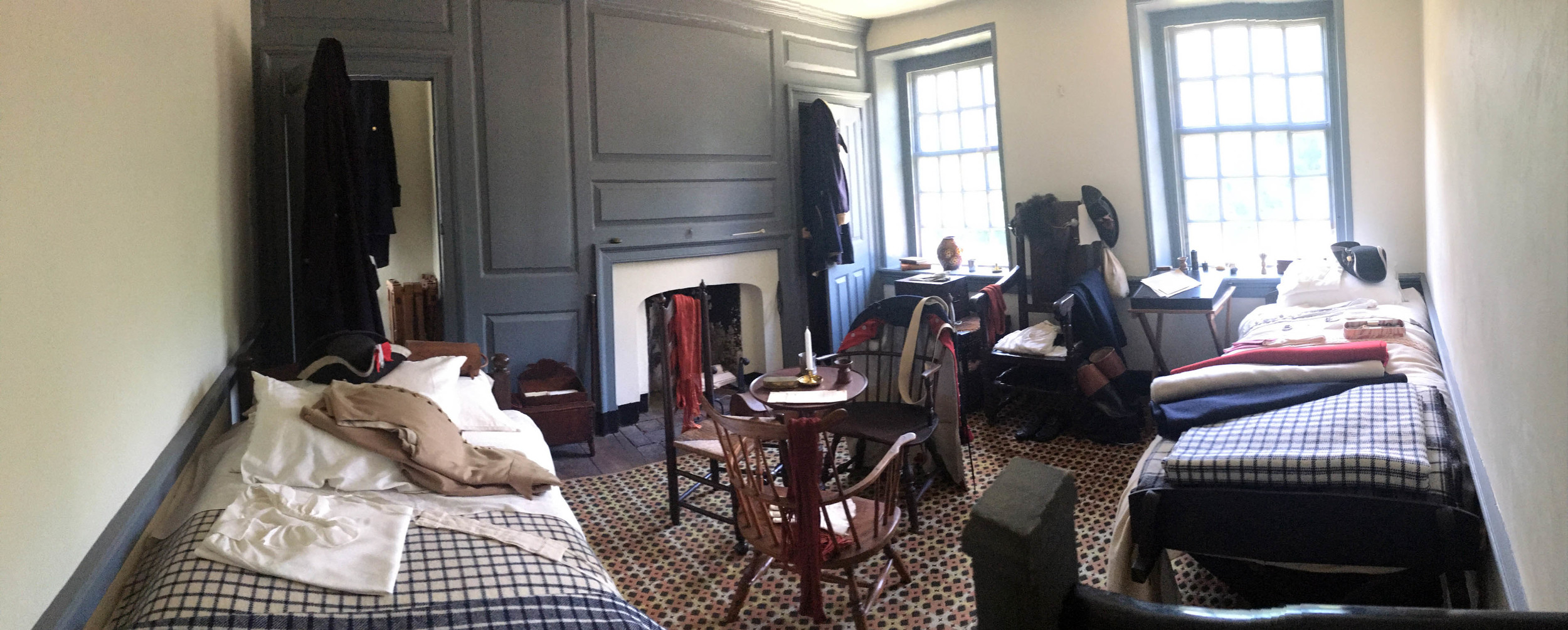 Bedroom for Hamilton and other officers, on the second floor of Washington's headquarters.