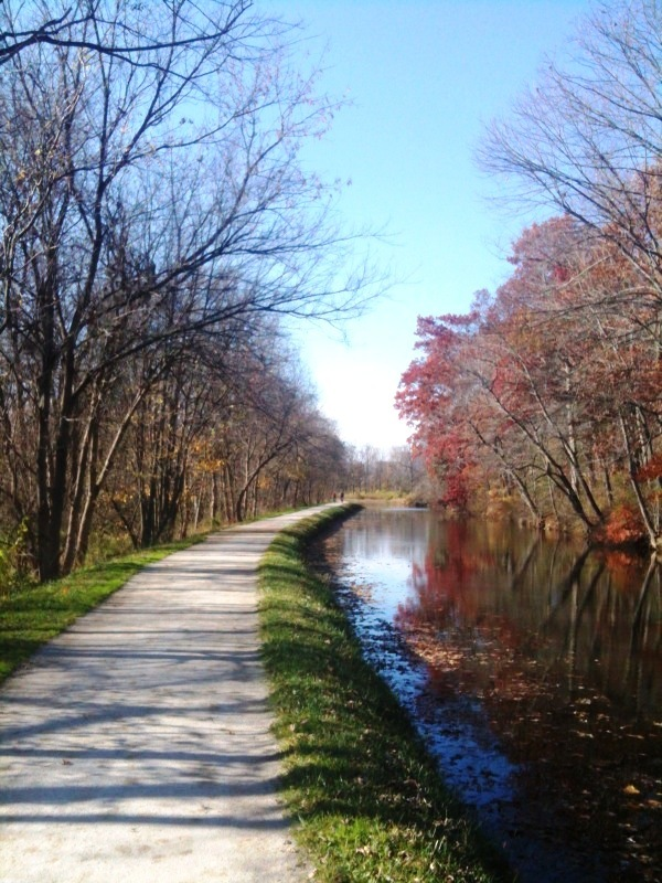 Along the Ohio-Erie Canal.