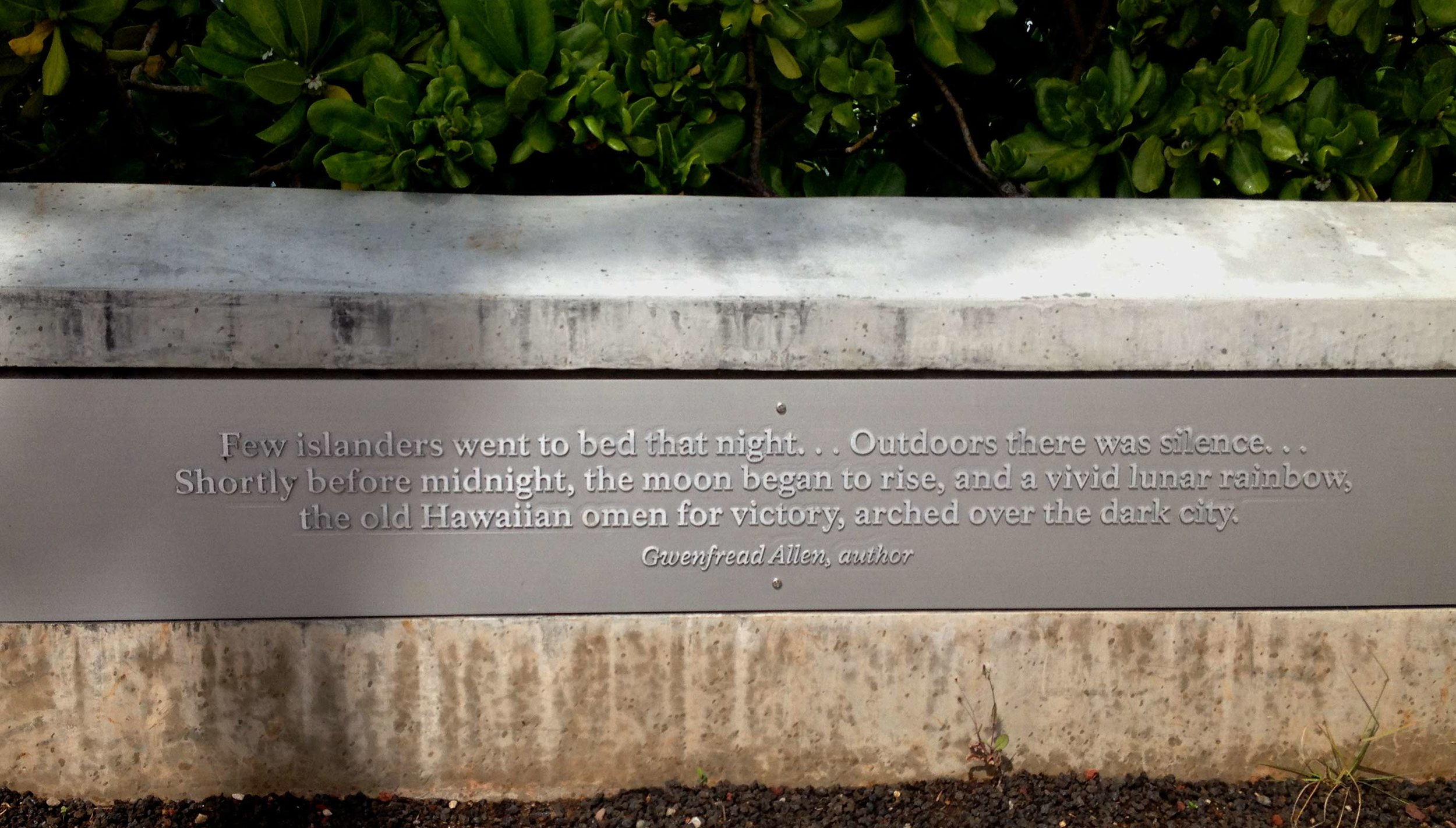 World War II Valor in the Pacific National Monument, O'ahu, photo by Amy Beth Wright.