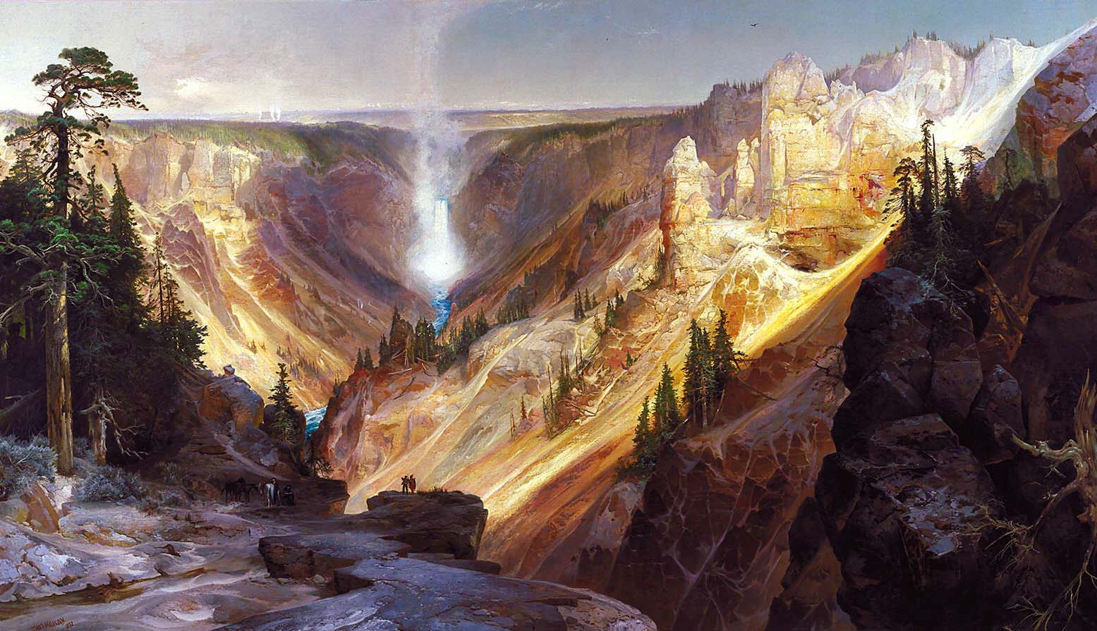 The Grand Canyon of the Yellowstone , Thomas Moran, Smithsonian American Art Museum.