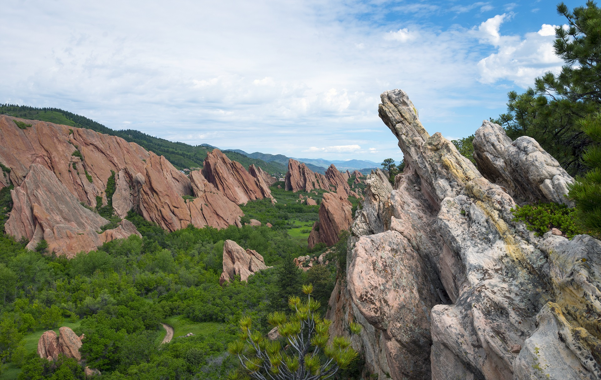 Breaking Trail At Roxborough State Park, Colorado
