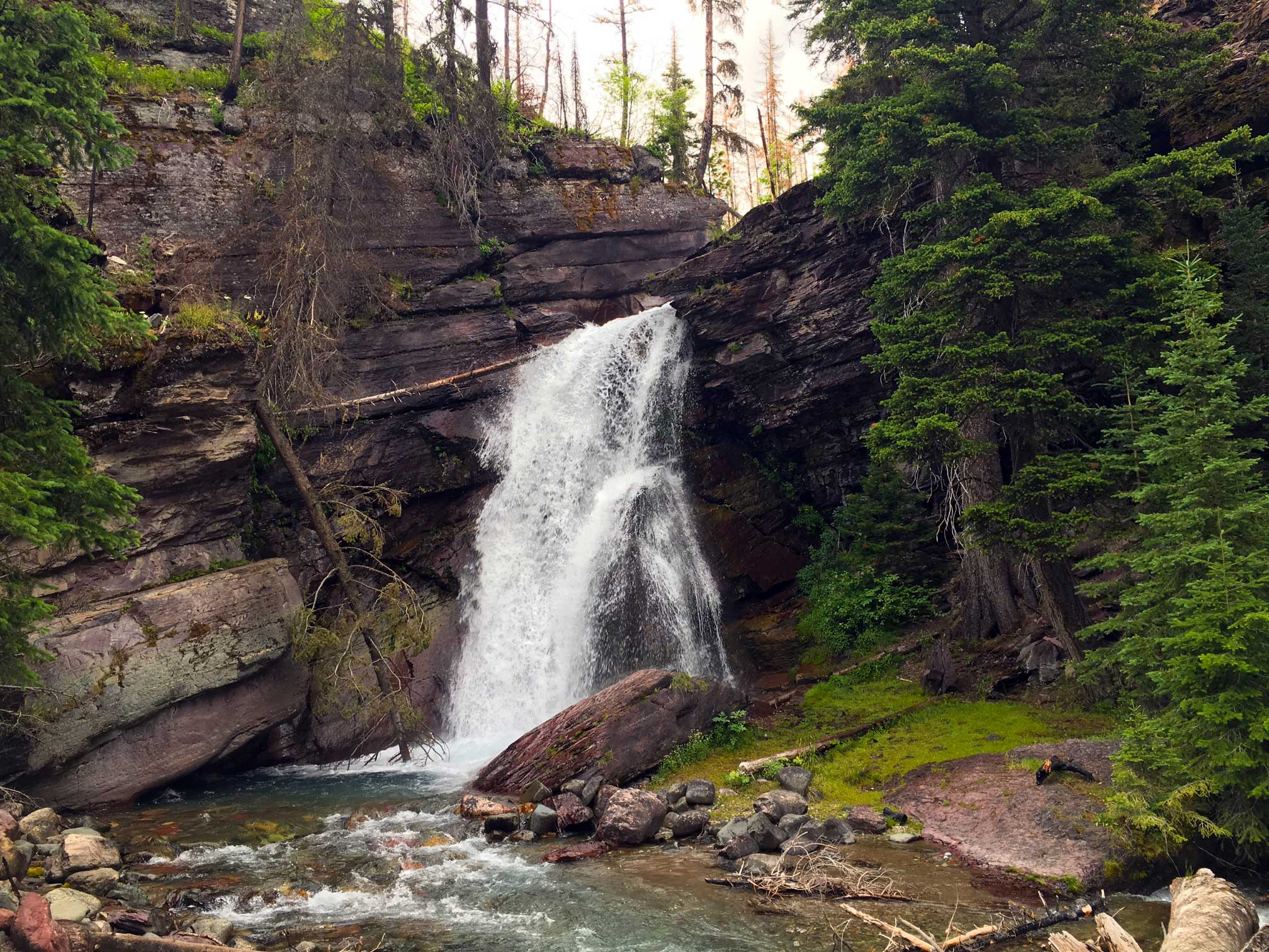 Baring Falls, on the Going-to-the-Sun Road.
