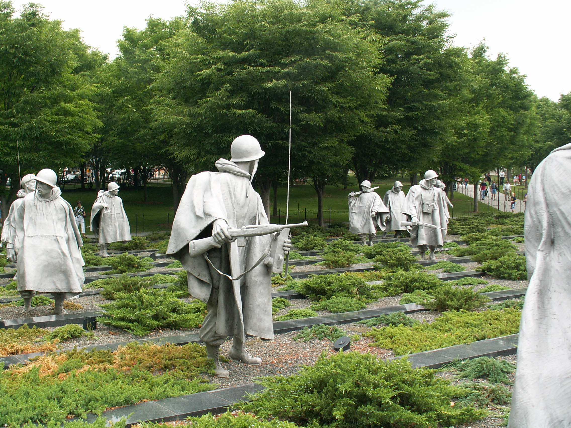 The statue portion of the Korean War Veterans Memorial, photo by Bob Wright.