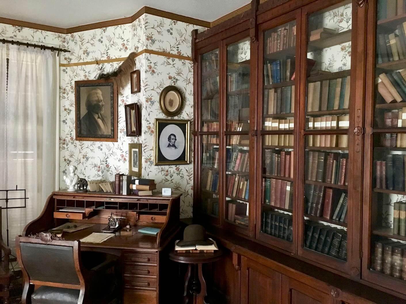 Frederick Douglass' desk and study, photo by Derek Wright.