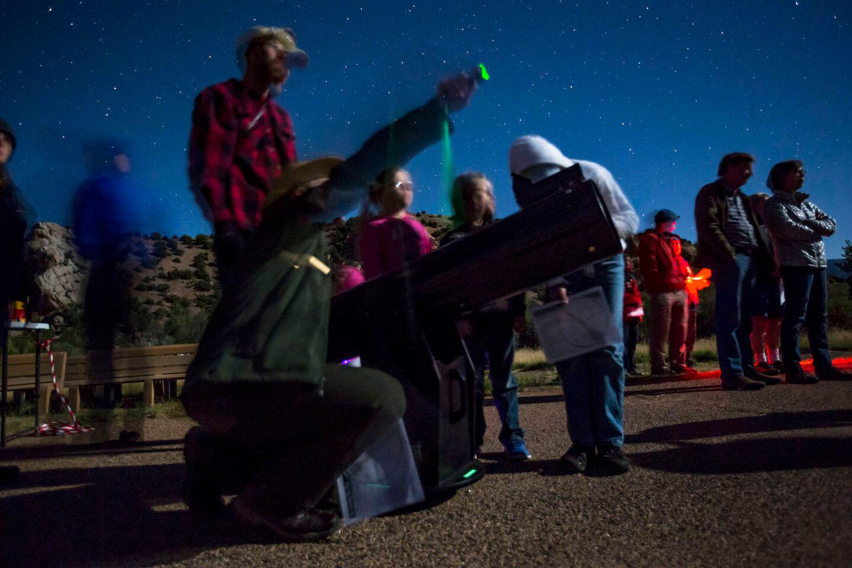 Visitors sky program, photo by Jake Holgerson / NPS.