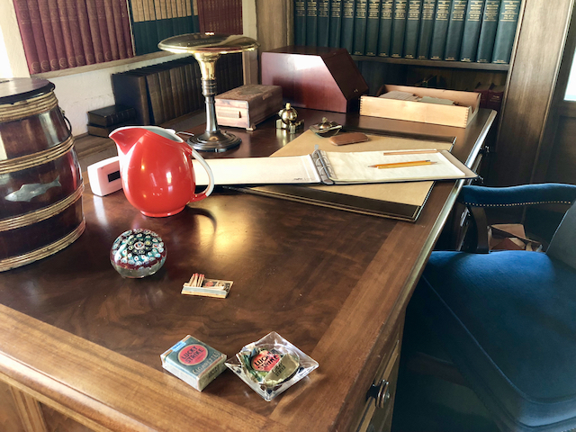 O'Neill's study and writing desk. Photo by Derek Wright.