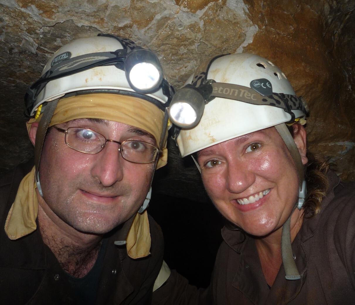 Sally Bjork with Nikos.