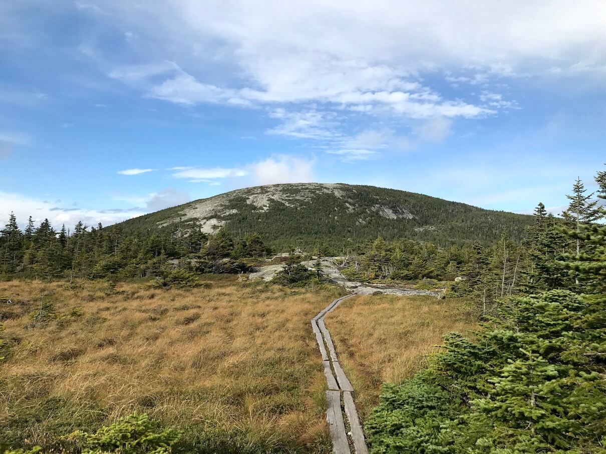 Approaching Baldpate, photo by John Stifler.