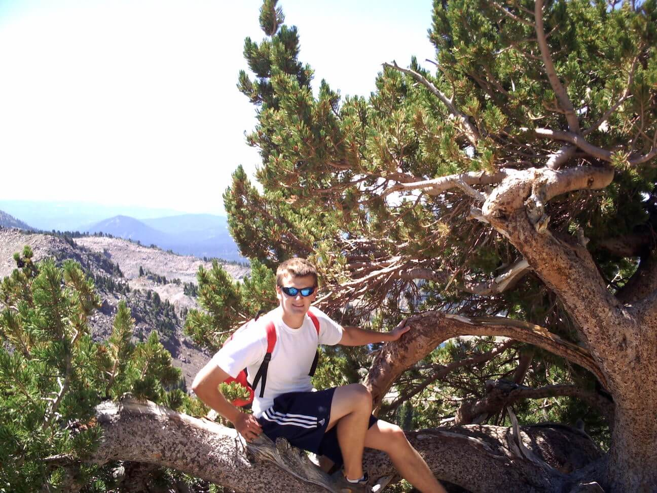 My son Patrick DeMarle taking a short rest during the hike up to Lassen Peak, photo courtesy Laura Power.