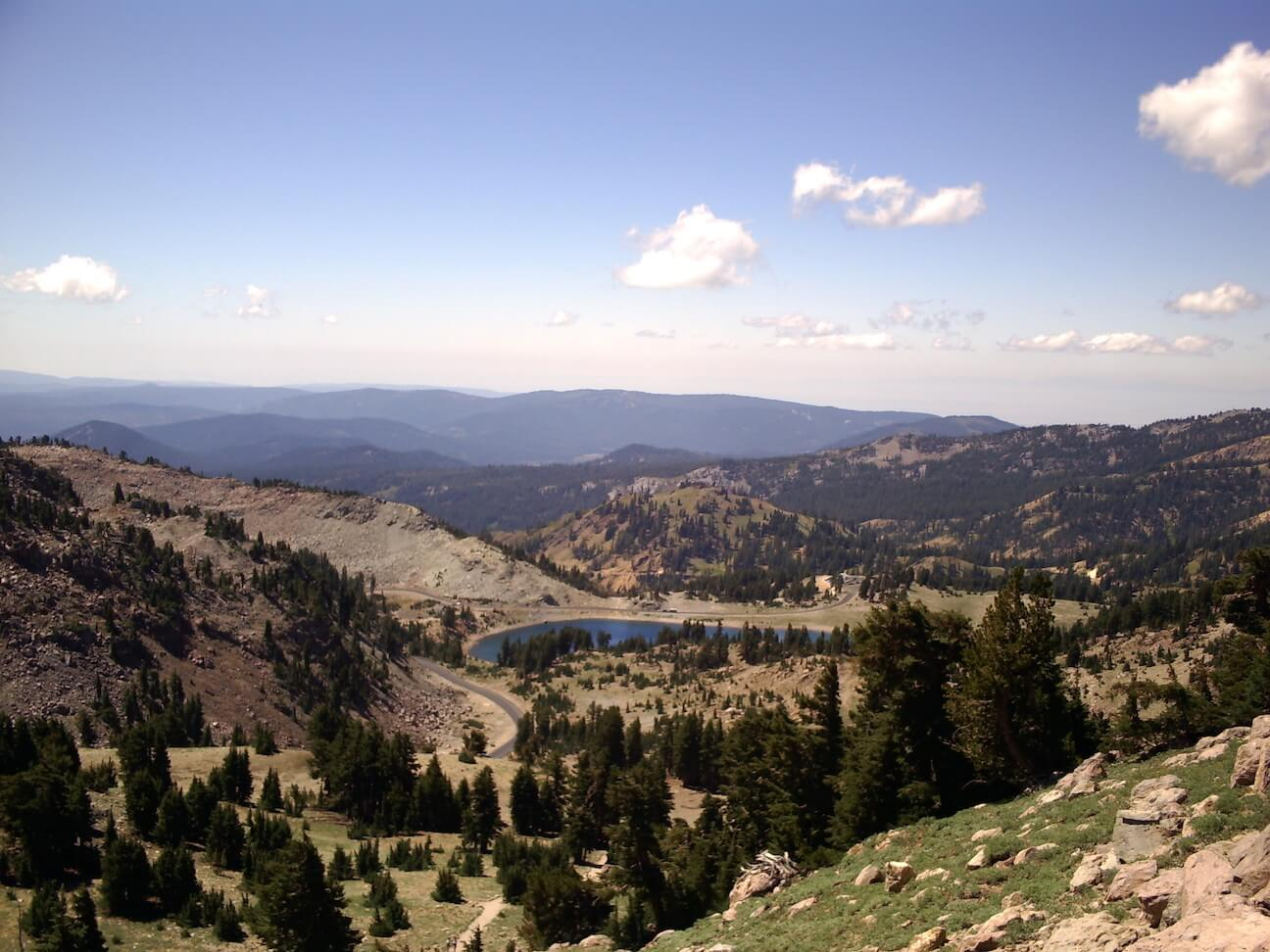 A view from the Lassen Peak trail, photo courtesy Laura Power.