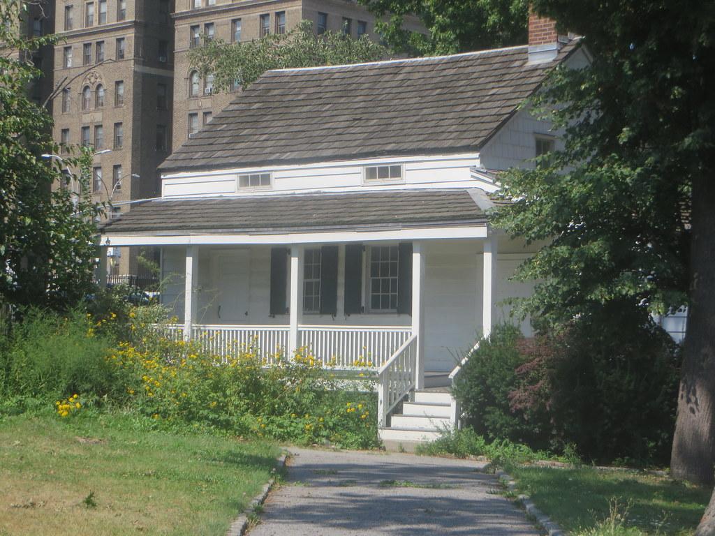 Poe's cottage in Poe Park.