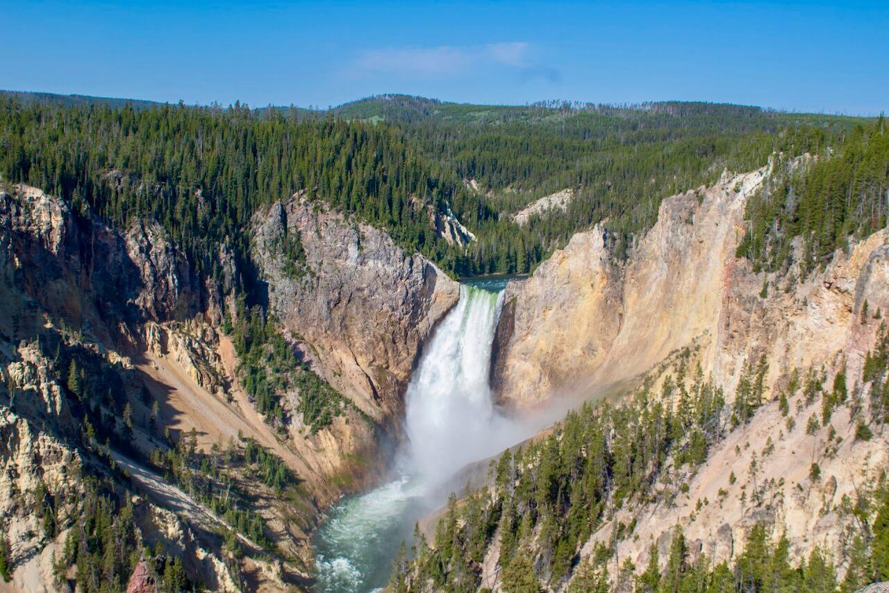 Grand Canyon of Yellowstone, Lower Falls, photo by Derek Wright.