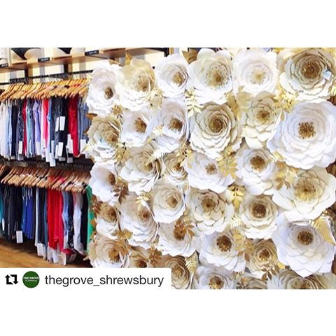 #Repost @thegrove_shrewsbury ・・・ An exquisite installation of handmade paper flowers by @cristinkellydesign at our @lululemon ! 😍✨✌🏼#peacelovegrove