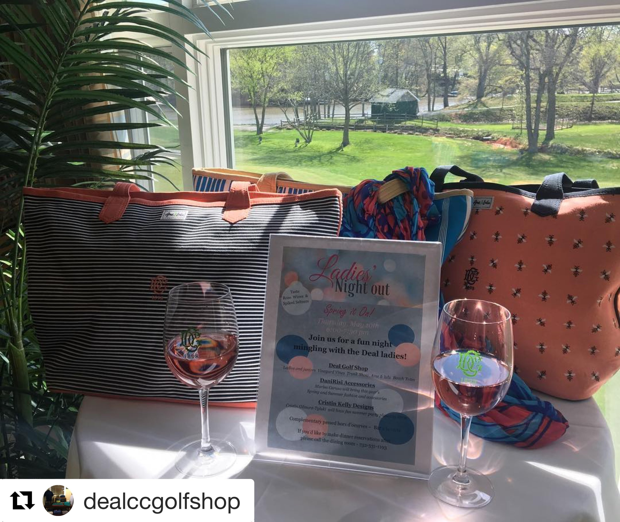 dealccgolfshop: Are you in for Ladies Night Out? Local vendors, DaniRisi Accessories and Cristin Kelly Designs will be featured and we'll bring vineyard vines golf and spiked seltzer's