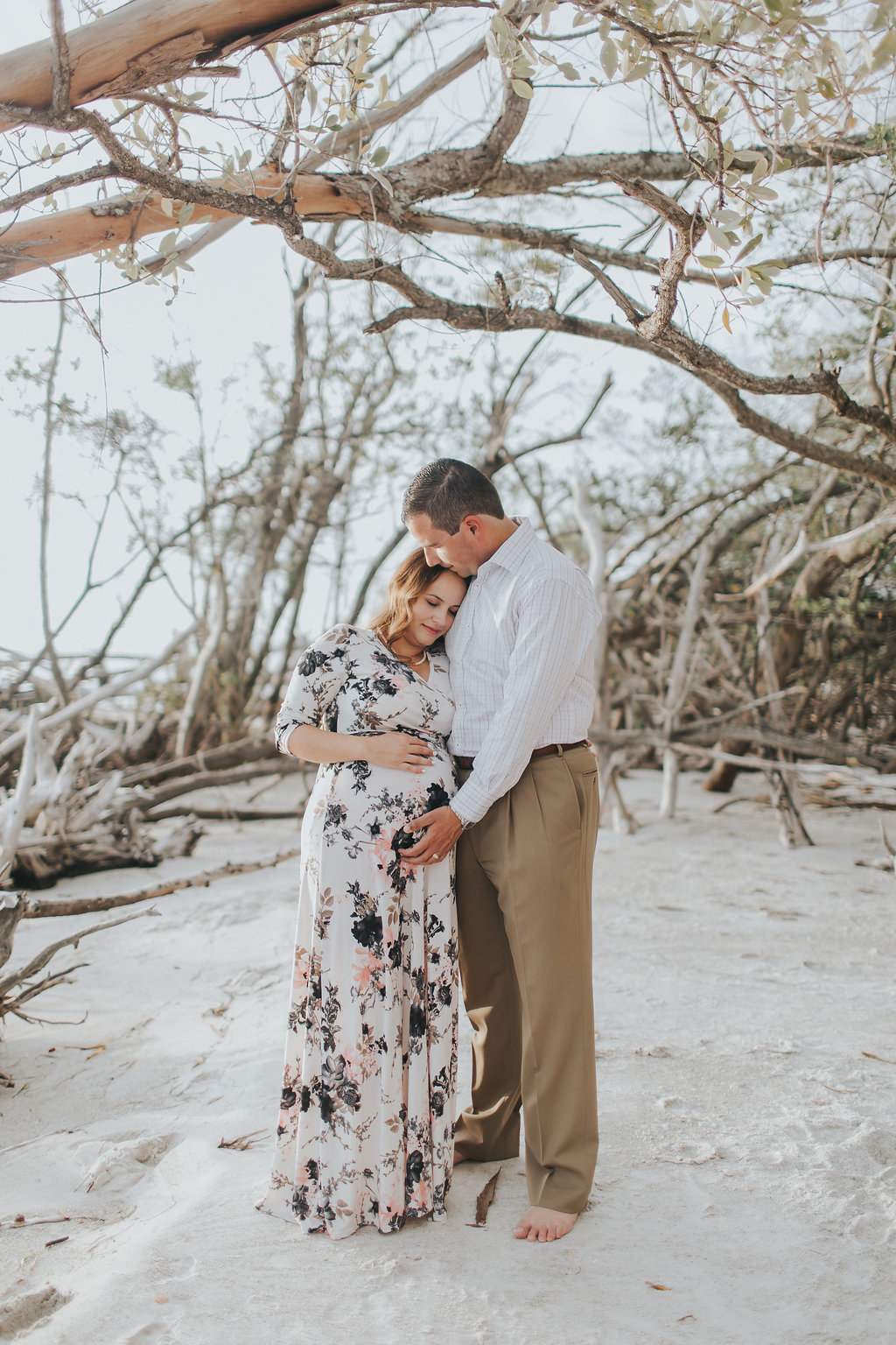 longboat key floral maternity session at beer can island moody_04.jpg