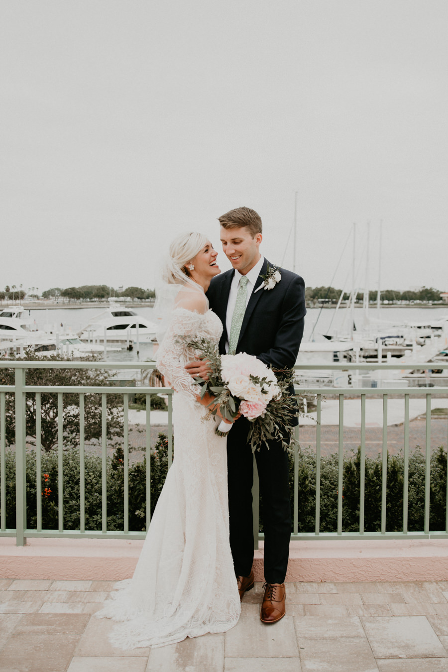 Neely rose gold boho wedding in st pete vinoy A and be Miami first baptist of st pete park shore grill Tampa Wedding Photographer -98.jpg