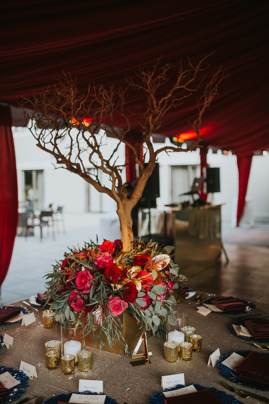 Loren and Alex Kuznetsov Gold and Burgundy wedding at Epicurean Tampa Royal Fall Wedding in Tampa Florida Inside Weddings MD Events Tampa-76.jpg