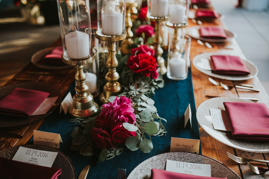 Loren and Alex Kuznetsov Gold and Burgundy wedding at Epicurean Tampa Royal Fall Wedding in Tampa Florida Inside Weddings MD Events Tampa-77.jpg