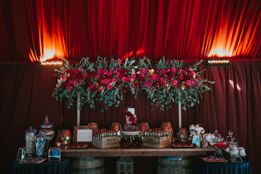Loren and Alex Kuznetsov Gold and Burgundy wedding at Epicurean Tampa Royal Fall Wedding in Tampa Florida Inside Weddings MD Events Tampa-84.jpg