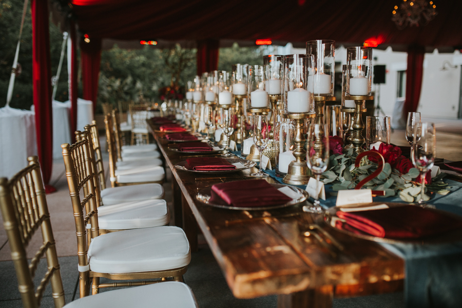 Loren and Alex Kuznetsov Gold and Burgundy wedding at Epicurean Tampa Royal Fall Wedding in Tampa Florida Inside Weddings MD Events Tampa-91.jpg