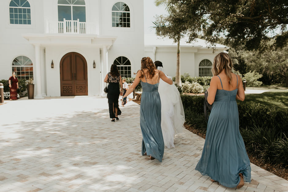 Harborside Chapel Wedding Palm Harbor Hall Bohemian Dusty Steel Blue Clearwater Tampa Wedding Photographer BHLDN Willowwby Thistle Gown White Magnolia Bridal -29.jpg