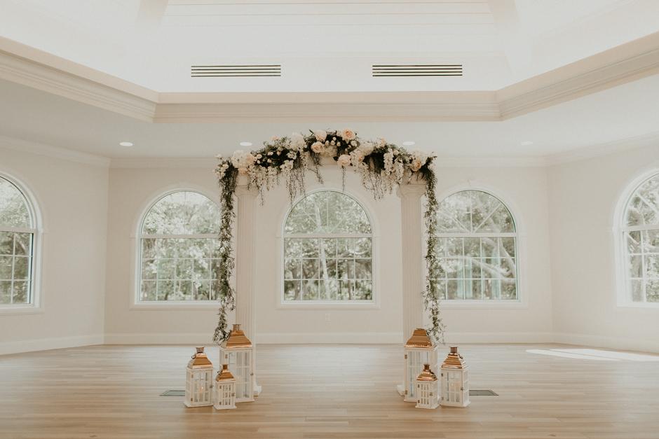 Harborside Chapel Wedding Palm Harbor Hall Bohemian Dusty Steel Blue Clearwater Tampa Wedding Photographer BHLDN Willowwby Thistle Gown White Magnolia Bridal -34.jpg