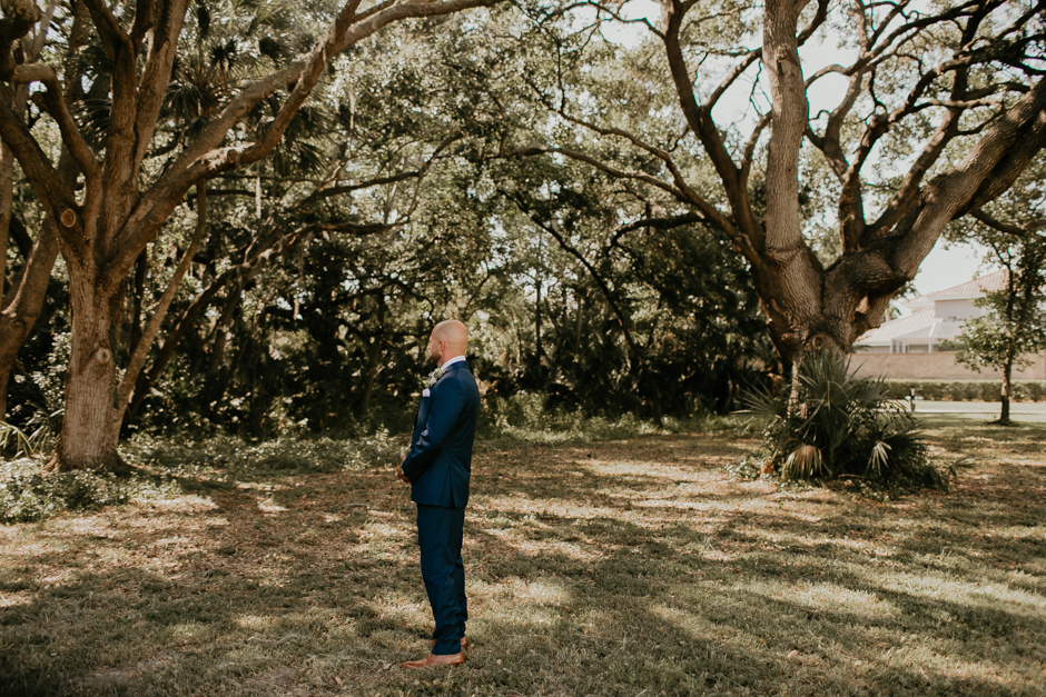 Harborside Chapel Wedding Palm Harbor Hall Bohemian Dusty Steel Blue Clearwater Tampa Wedding Photographer BHLDN Willowwby Thistle Gown White Magnolia Bridal -45.jpg