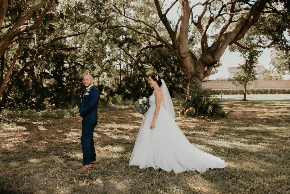 Harborside Chapel Wedding Palm Harbor Hall Bohemian Dusty Steel Blue Clearwater Tampa Wedding Photographer BHLDN Willowwby Thistle Gown White Magnolia Bridal -46.jpg