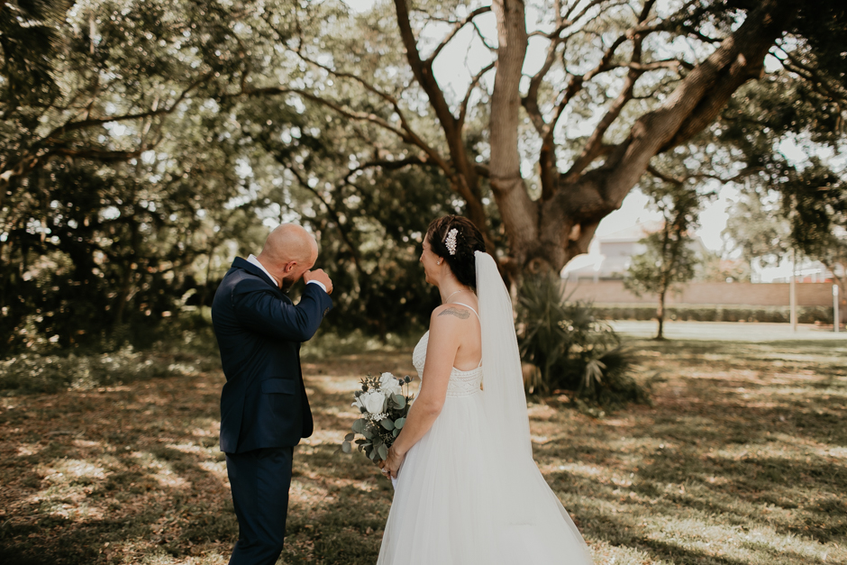Harborside Chapel Wedding Palm Harbor Hall Bohemian Dusty Steel Blue Clearwater Tampa Wedding Photographer BHLDN Willowwby Thistle Gown White Magnolia Bridal -49.jpg