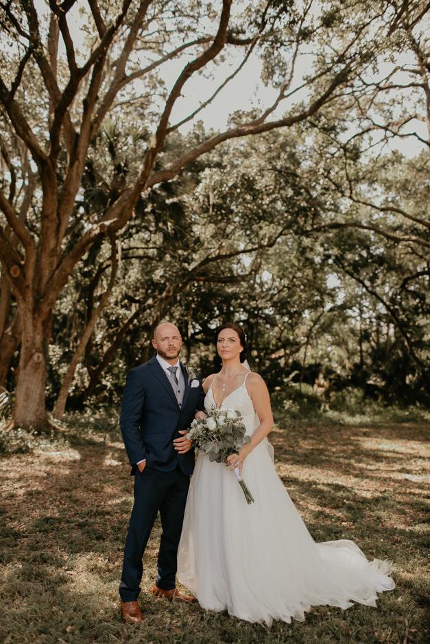 Harborside Chapel Wedding Palm Harbor Hall Bohemian Dusty Steel Blue Clearwater Tampa Wedding Photographer BHLDN Willowwby Thistle Gown White Magnolia Bridal -54.jpg