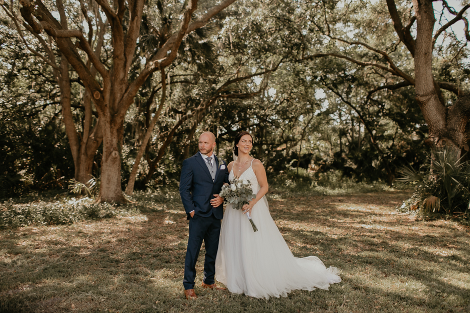 Harborside Chapel Wedding Palm Harbor Hall Bohemian Dusty Steel Blue Clearwater Tampa Wedding Photographer BHLDN Willowwby Thistle Gown White Magnolia Bridal -55.jpg