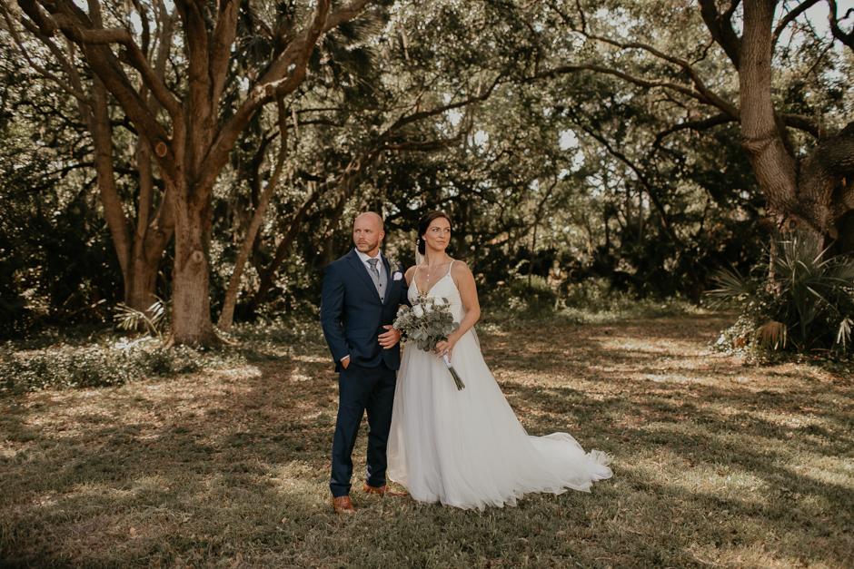 Harborside Chapel Wedding Palm Harbor Hall Bohemian Dusty Steel Blue Clearwater Tampa Wedding Photographer BHLDN Willowwby Thistle Gown White Magnolia Bridal -56.jpg