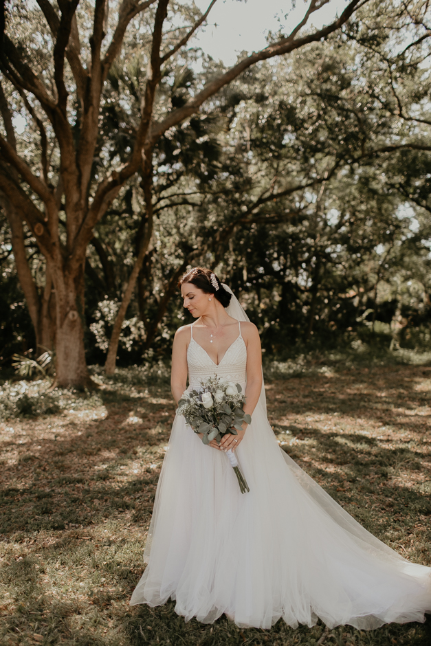 Harborside Chapel Wedding Palm Harbor Hall Bohemian Dusty Steel Blue Clearwater Tampa Wedding Photographer BHLDN Willowwby Thistle Gown White Magnolia Bridal -58.jpg