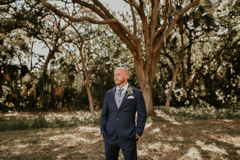 Harborside Chapel Wedding Palm Harbor Hall Bohemian Dusty Steel Blue Clearwater Tampa Wedding Photographer BHLDN Willowwby Thistle Gown White Magnolia Bridal -60.jpg