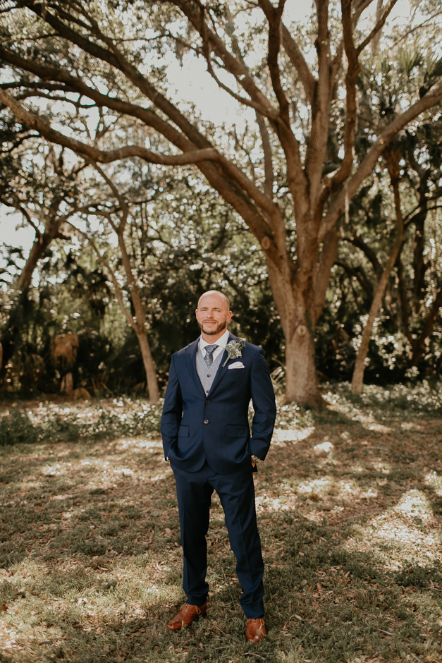 Harborside Chapel Wedding Palm Harbor Hall Bohemian Dusty Steel Blue Clearwater Tampa Wedding Photographer BHLDN Willowwby Thistle Gown White Magnolia Bridal -61.jpg