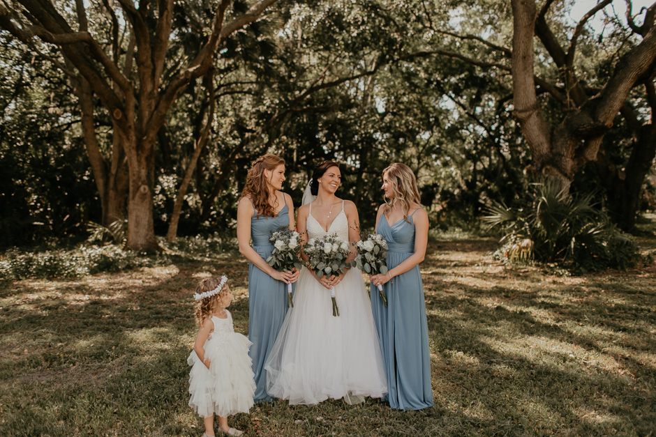 Harborside Chapel Wedding Palm Harbor Hall Bohemian Dusty Steel Blue Clearwater Tampa Wedding Photographer BHLDN Willowwby Thistle Gown White Magnolia Bridal -64.jpg