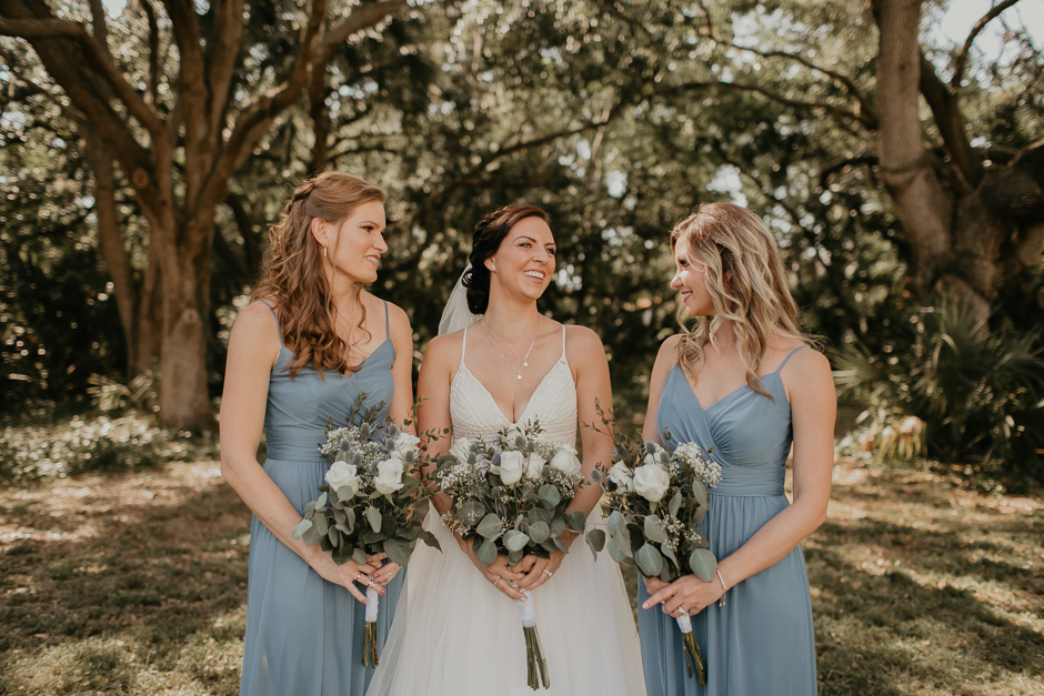 Harborside Chapel Wedding Palm Harbor Hall Bohemian Dusty Steel Blue Clearwater Tampa Wedding Photographer BHLDN Willowwby Thistle Gown White Magnolia Bridal -65.jpg