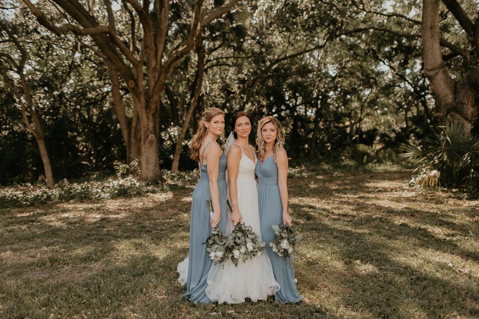 Harborside Chapel Wedding Palm Harbor Hall Bohemian Dusty Steel Blue Clearwater Tampa Wedding Photographer BHLDN Willowwby Thistle Gown White Magnolia Bridal -66.jpg