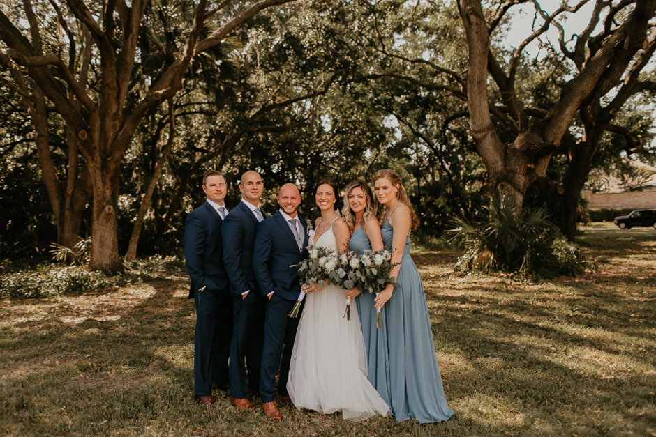 Harborside Chapel Wedding Palm Harbor Hall Bohemian Dusty Steel Blue Clearwater Tampa Wedding Photographer BHLDN Willowwby Thistle Gown White Magnolia Bridal -70.jpg